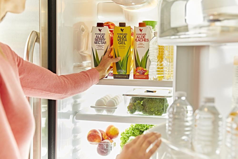 Boissons à l'aloe vera au frigo