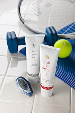 Produit Forever Aloe vera MSM et Heat lotion